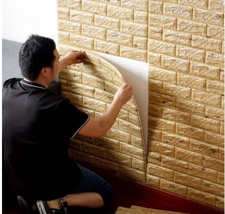 3d three-dimensional wall stickers brick pattern wall stickers thickening waterproof wallpaper wall stickers