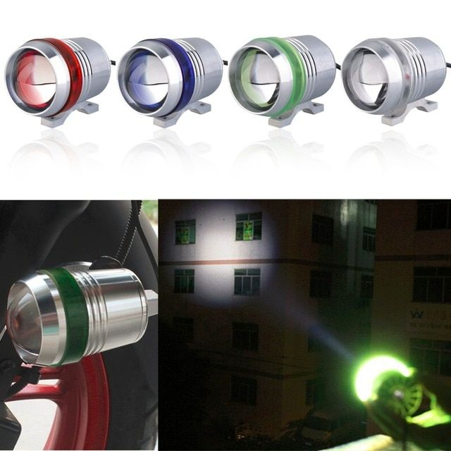 1pc 30W LED Motorcycle Motorbike Angel Eye 1200LM High Low Flash LED Driving Fog Spot Head Bulb Light Lamp Headlight accessories