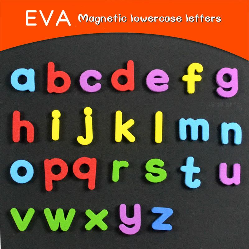 26 Pcs EVA Letters Fridge Magnets Uppercase Lowercase Kids Early Education Words Spelling Teaching Refrigerator Magnets Sticker