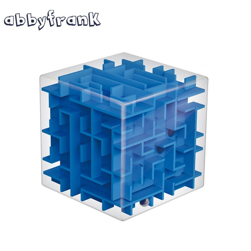 Abbyfrank Maze Magic Cube Puzzle Toy 3D Mini Speed Cube Labyrinth Rolling Ball Magicos Puzzle Game Learning Educational Toy