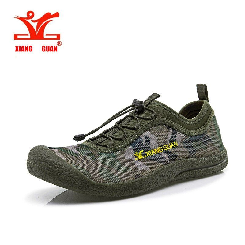 XIANGGUAN Breathable Mesh Upstream Shoes Hiking Man Walking Outdoor Trainer Men Aqua Wading Sport Sneaker Beach Slip Resistant