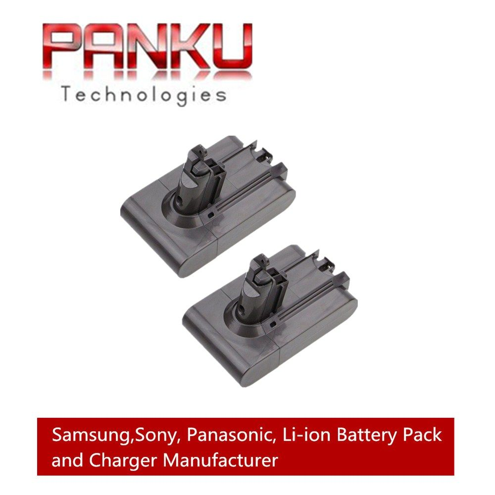 2 X Replacement 21.6V 2.2Ah Li-ion Battery for Dyson V6 DC58 DC59 DC61 DC62 Handheld  Animal Vacuum Cleaner