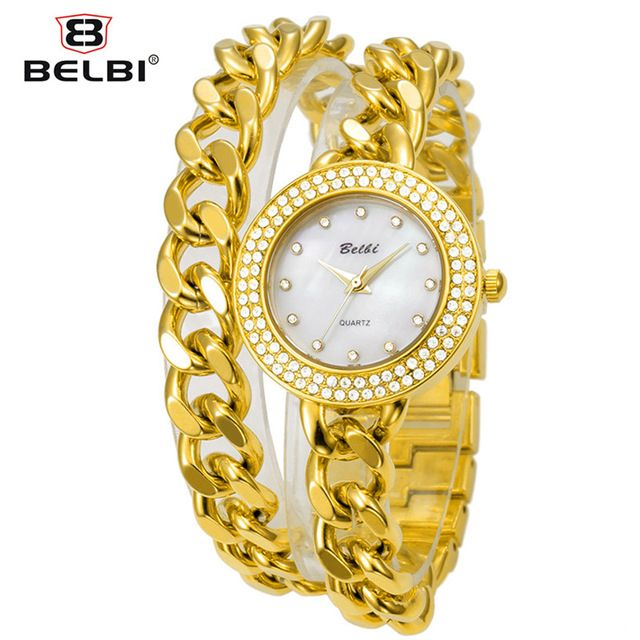 BELBI Brand Stainless Steel Women Watches Fashion Casual Quartz Dress WristWatches Luxury Women Bracelet Watch Relogio Feminino