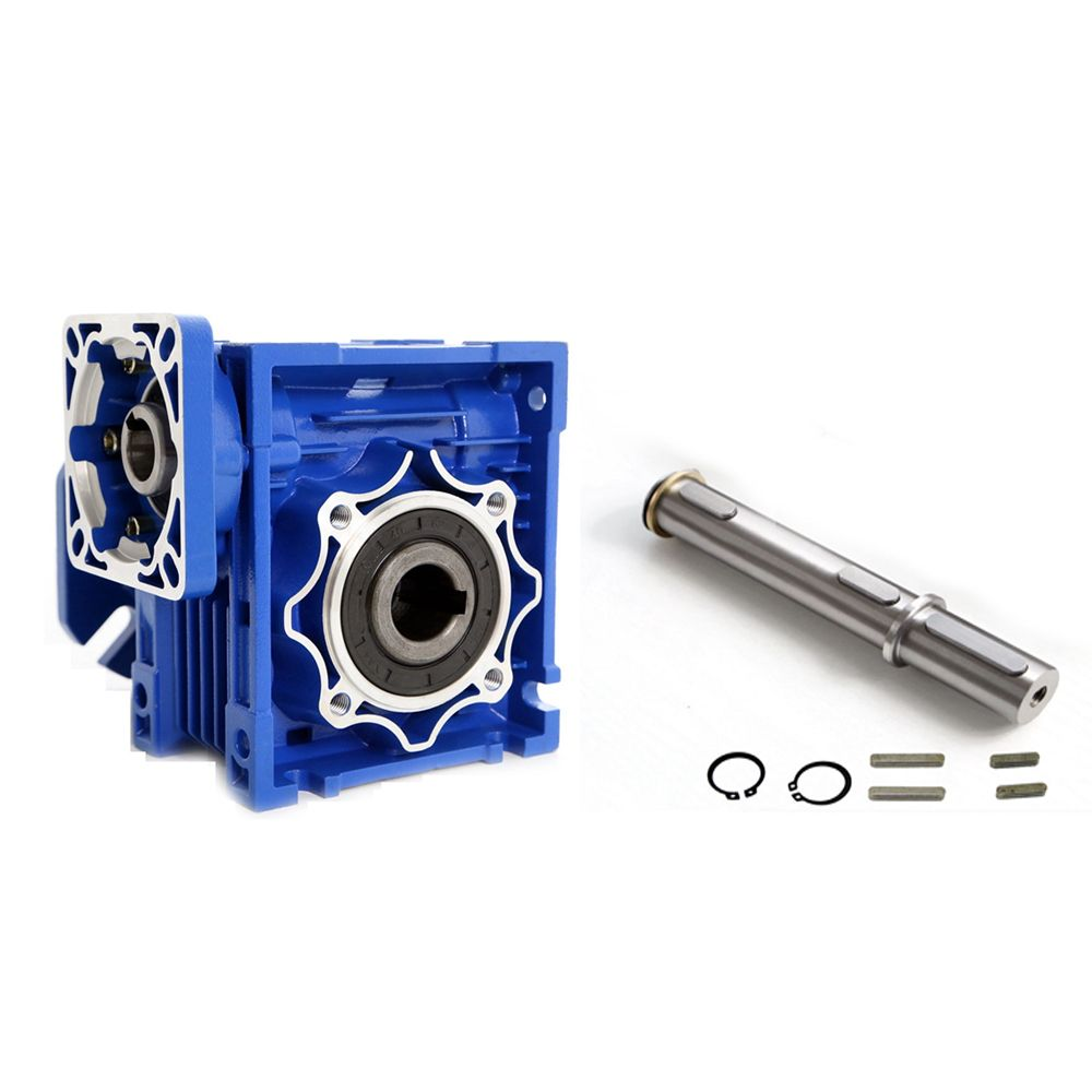 NMRV075 40:1 19mm Single Input Shaft Worm Gear Speed Reducer 90 Degree NEMA42 Matched with Servo/Stepper Motor