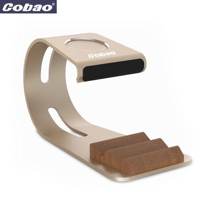 Cobao Aluminium Alloy Universal Mobile Phone Stand Desk Phone Holder for apple watch Samsung iPhone stand