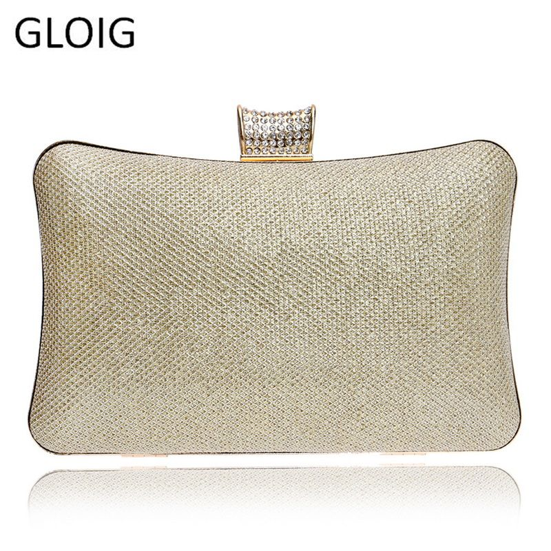 Sequined Women Evening Bags Chain Shoulder Messenger Handbags Diamonds Metal Simple Wedding Party Purse Clutches
