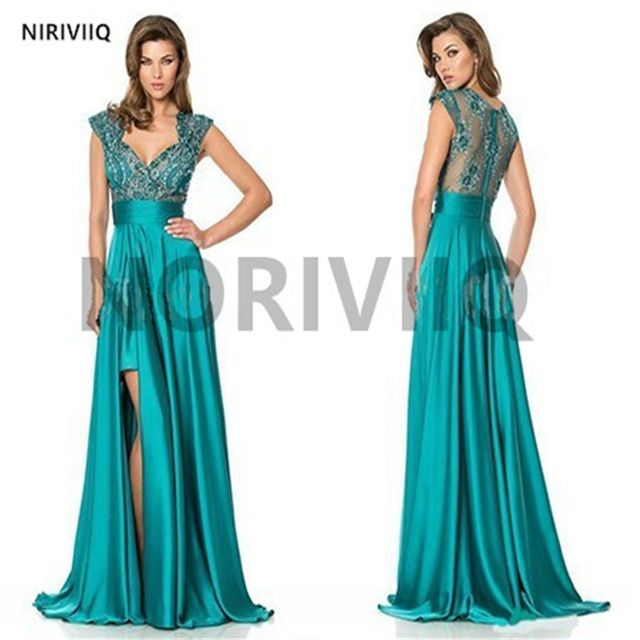 Vestido De Festa Longo 2014 Fashion Elegant Emerald Green Cocktail Dresses Plus Size Women Beaded Party Dress Online Store