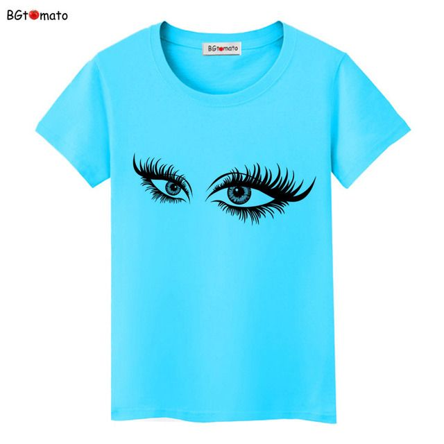 BGtomato Super beautiful bright eyes 3D T shirt women's new style creative fashion shirts Brand good quality casual tops