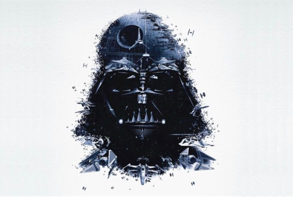 Custom Canvas Wall Decals Star Wars Poster Star Wars Wall Stickers Darth Vader Decor Pinup Sticker Mural Comic Wallpaper #1140#