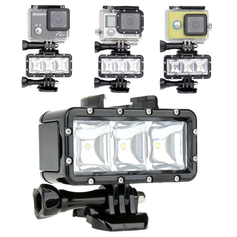 Lightdow Diving LED Light Underwater Video Light Lamp + One Battery + Buckle Mount For Gopro Hero 6 5 4 3+ SJCAM  XiaoYi