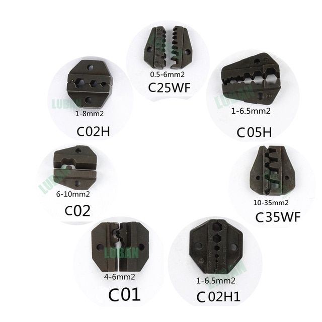 LUBAN C35WF C25WF C02 C02H C01 C05H C02H1 Die Sets for C CRIMPING PILER die sets plier modules jaws