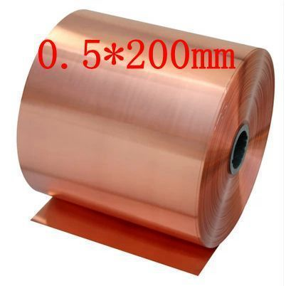 0.5*200mm High quality copper strip, sheet skin red copper,Purple copper foil,Copper plate