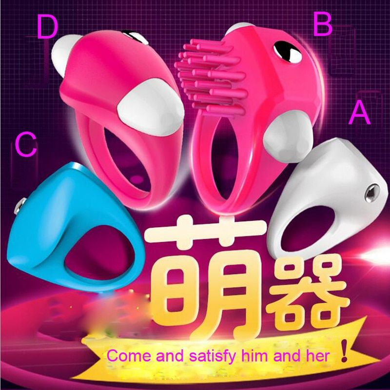 Delay Cock ring vibrator sex Toys for woman Clitoris Anillo vibrador Adult toys for men sex toy Penis ring Cockring for Couples