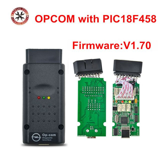 Professional OBD2 OPCOM V1.70 Support Flash Update For Opel OP COM OP-COM With PIC18F458 Firmware V1.70 Free Shipping