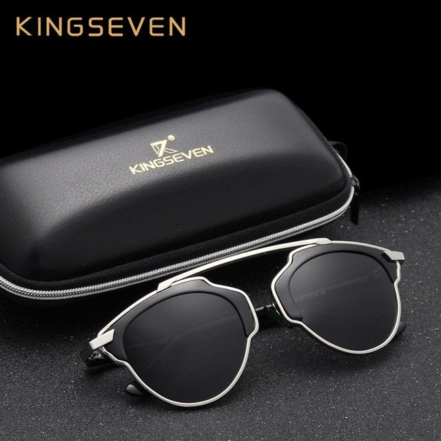 Kingseven Polarized Sunglasses Women Brand Designer Butterfly Alloy frame Specialties Polaroid lens Sun Glasses Oculos UV400