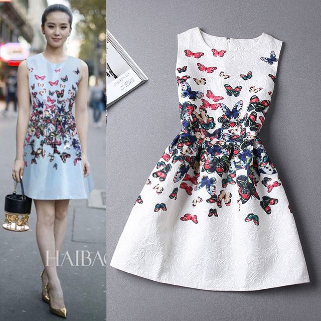 15 Colors Casual Print Dress New 2017 Fashion Printing Sleeveless Vest Dress Vestidos Vintage Woman tutu Short Dresses LW071