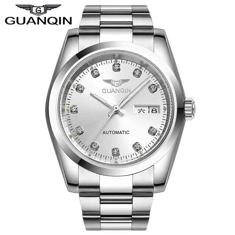 Luxury Original GUANQIN Automatic watch men Waterproof Diamond sapphire Men gold watch(GQ70005) 12 month Guaranteed!