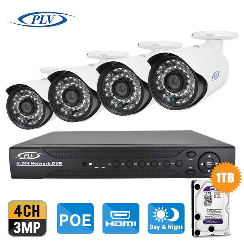 IP Cam Video Security Surveillance System PoE NVR Recorder System Kit 4mp 3mp Camera System 8CH PoE NVR CCTV System 1TB/2TB HDD