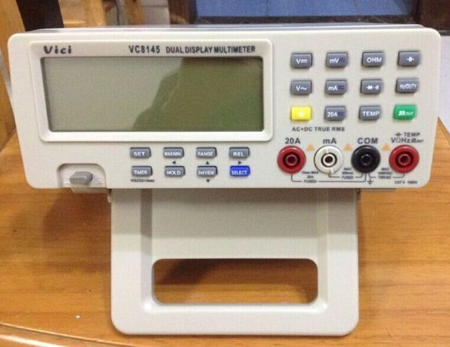 FREE SHIPPING VICI Digital Multimeter VC8145 Bench Top Voltmeter PC DMM 80K Digit AC/DC
