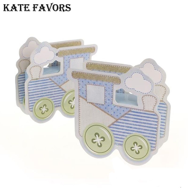 New Baby Shower Gift Box Lovely Baby Carriage Favor Box Baby Shower Favors Party Gift Box,Candy Box,Event & Party Supplies