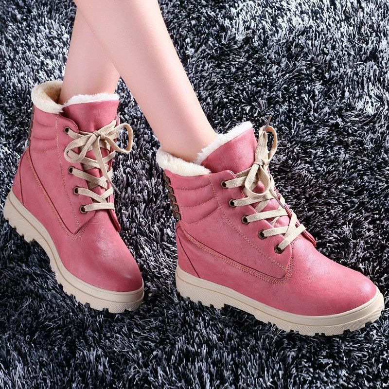 High Quality 2016 Flat Lace-up Brand Martin Ankle Winter Boots Genuine Leather Round Toe Big Size Motorcycle Boots Women Boots