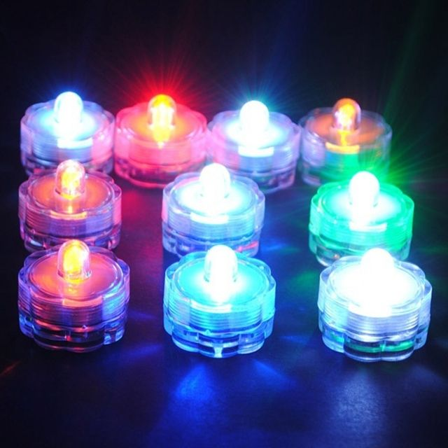 Flameless LED Tea Light  Battery Candle Floral  LED Night Light Decoration Lamp Nightlight Great Gift For Kids