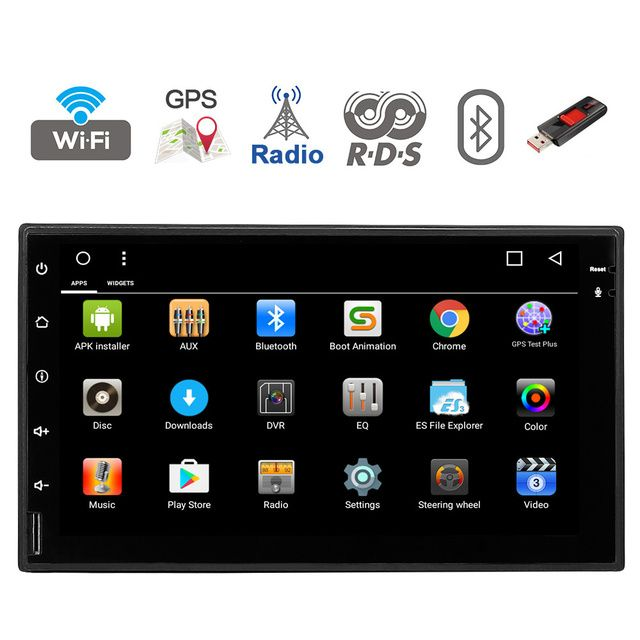Quad core Android 7.1 2 din Car Stereo Audio Radio Head Unit GPS Navigation For Nissan Qashqai Kia Ceed Honda Civic suzuki swift
