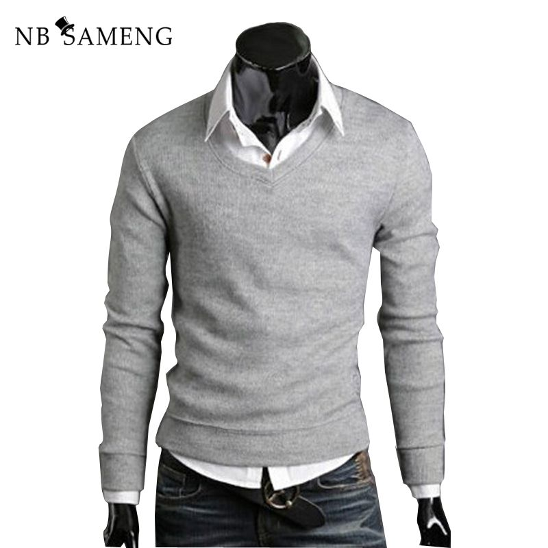 2018 Sueter Men Sweater Christmas Jumper Casual Knitted V Neck Pullover Sweaters Male Pull Homme 2096375