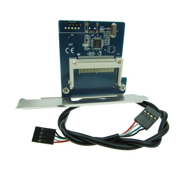 4pin USB2.0 to CF Interface Card Desktop extend CF reader with PC Low profile bracket USB to CF