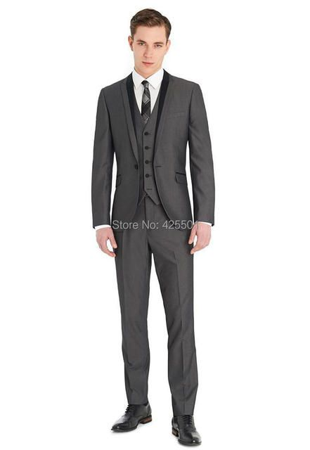 (Jackets+Pants+Vest+Tie) New 2016 Men Suit Bridegroom Suits Business Dress Designer Wedding Suits Slim Blazer Trouser