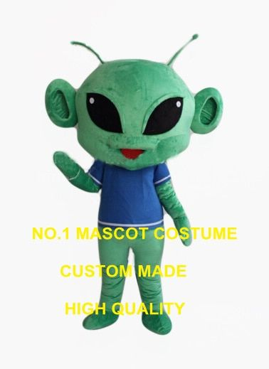 the big head green alien mascot costume adut size good quality extraterrestrial theme anime cosplay costumes carnival fancy 2567