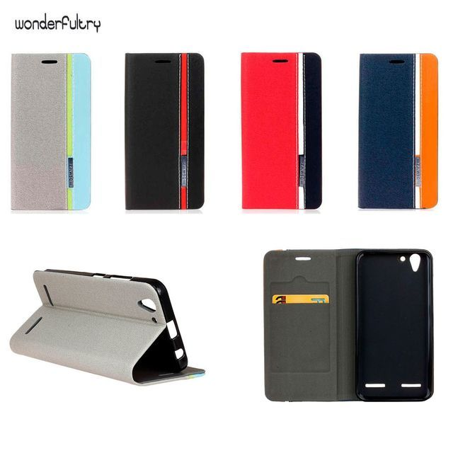 Wonderfultry Bags Case for Lenovo Vibe K5 A6020a40 / Lenovo Vibe K5 Plus Shell Wallet Stand Holder Leather Accessories Mobile