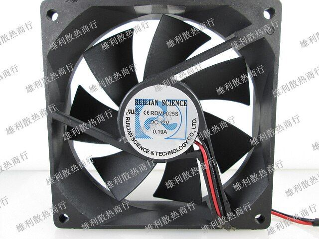Free delivery.RDM9025S 12V 0.19A 9CM 9025 2-line fridge water dispenser cooling fan