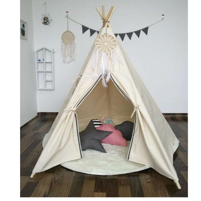 New design hot selling kids play tent indian teepee children playhouse children play room teepee