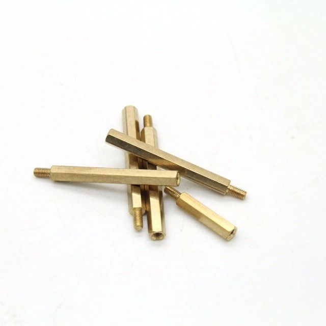10pcs/lot M3 Male 6mm x M3 Female 45mm Brass Standoff Spacer M3 45+6 High Quality