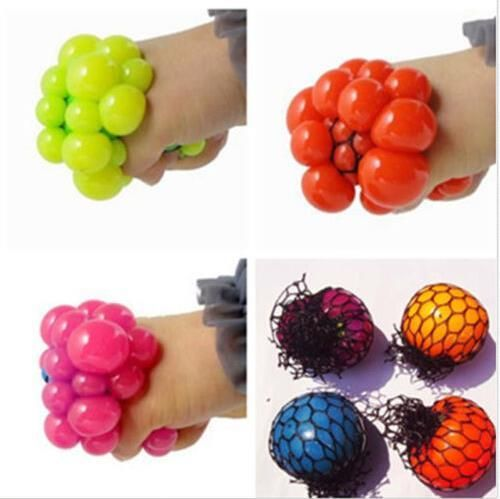 1PC Hot Sale Anti Stress Face Reliever Grape Ball Autism Mood Squeeze Relief Healthy Funny Tricky Toy