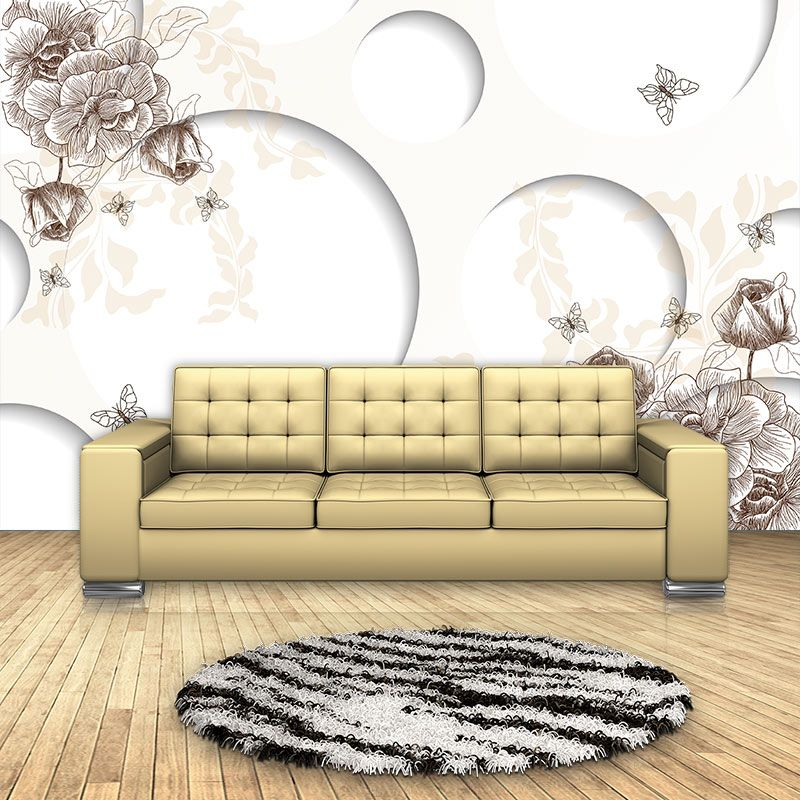 Modern 3D Floral Wallpaper Home Decor Wall Papers Mural Living Room Bedroom TV Background Self Adhesive Vinyl / Silk Wallpaper