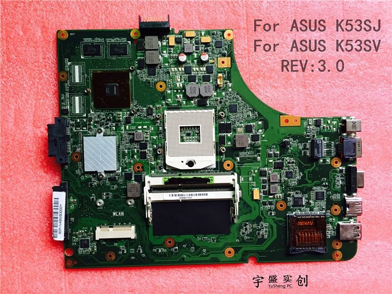 New New For Asus K53SJ K53SV motherboard HM65 rev 3.0 ( For NVIDIA video card ) Warranty:90 Days