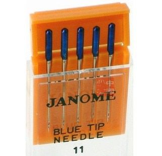 Janome Janome sewing machine needle elastic fabric to prevent skipping the original blue blue needle No. 11 5 jumper