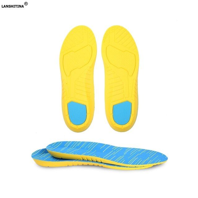 2017 Sports Scholls Insole PU Gel Foam Breathable Insole Shock Absorption Sweat-absorbent Deodorant Foot Pad Elastic Shoe Insert