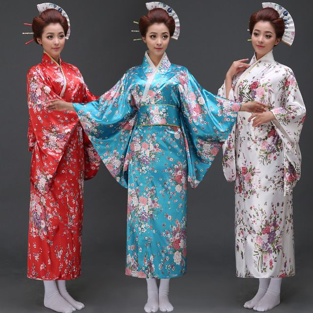 New Arrive Women Japanese Kimono Traditional Costume Female Yukata With Bowknot Lady Robe Japanese Ancient Clothes 12