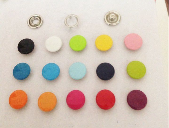 Wholesale Multi Colors 300sets 11mm Capped Prong Snap buttons for baby Clothing DIY Craft FreeShip