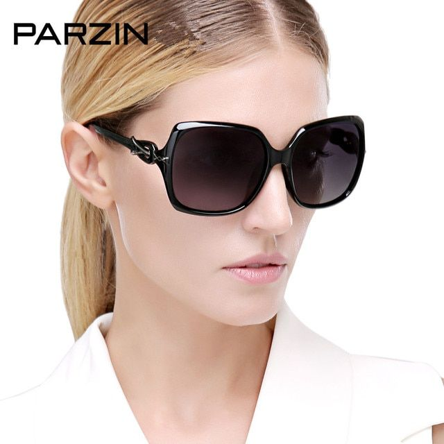 Pazin Polarized Sunglasses Women Vintage Oversized Female Sun Glasses For Driving Black Ladies Shades Accessories With Case 9280