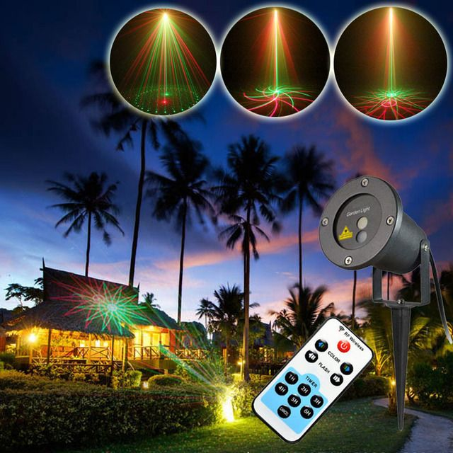 20 Patterns Red Greed Rotating Outdoor Laser Projector Landscape Lighting Waterproof Xmas Holiday Party House Decoration Lights