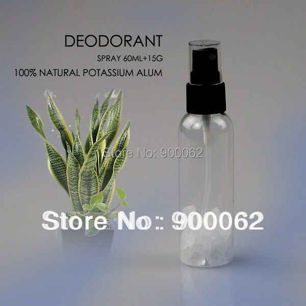 FREE SHIPPING 60ml Alum Spray Deodorant, Crystal stick deodorant