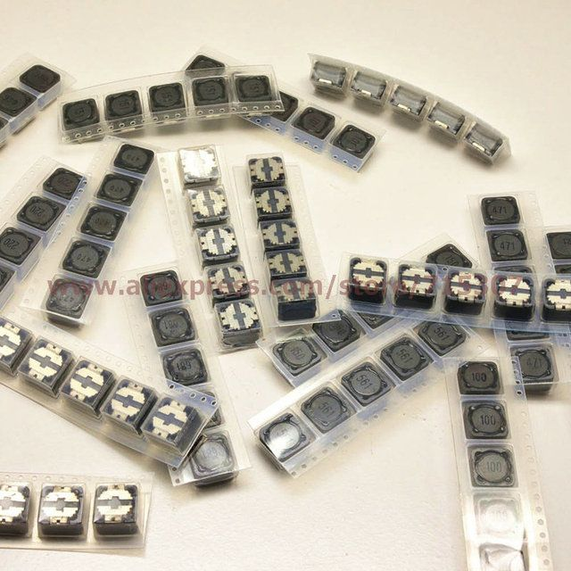 PHISCALE SMD power inductor kit 17values 34pcs - 2pcs each of 3.3uh - 680uh ( 3R3 - 681 ) 12*12*7mm