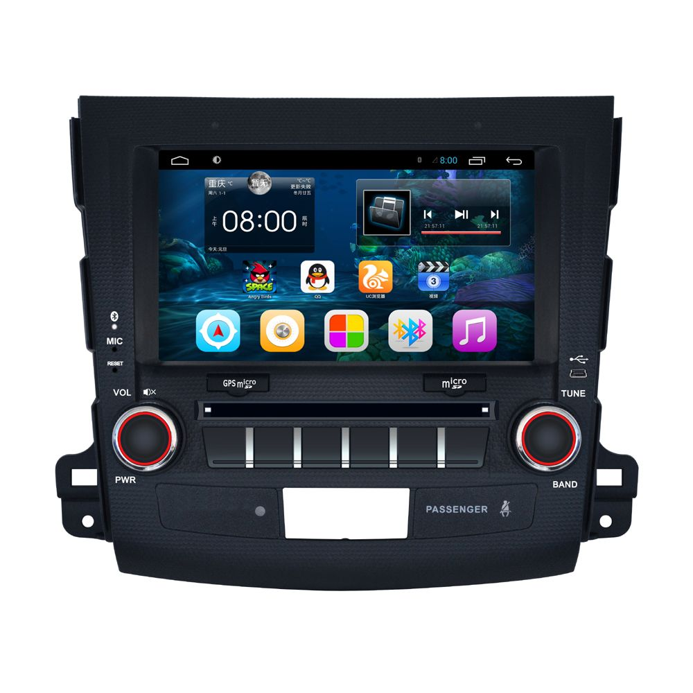 8 inch Screen Android 4.4 Car Navigation GPS System Stereo Media Auto radio DVD Player for Mitsubishi Outlander Peugeot 4007