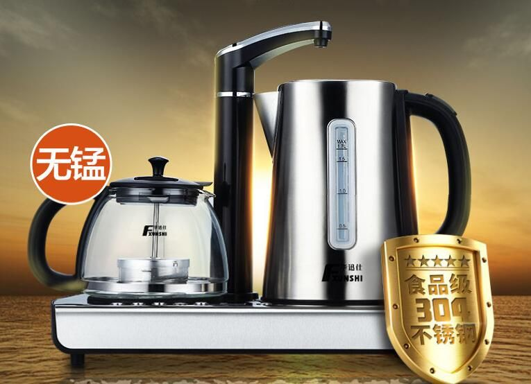 china FXUNSHI 304 stainless steel household electric WATER kettle automatic pumping tea pot MD-3002 coffee pot 110-220-240v