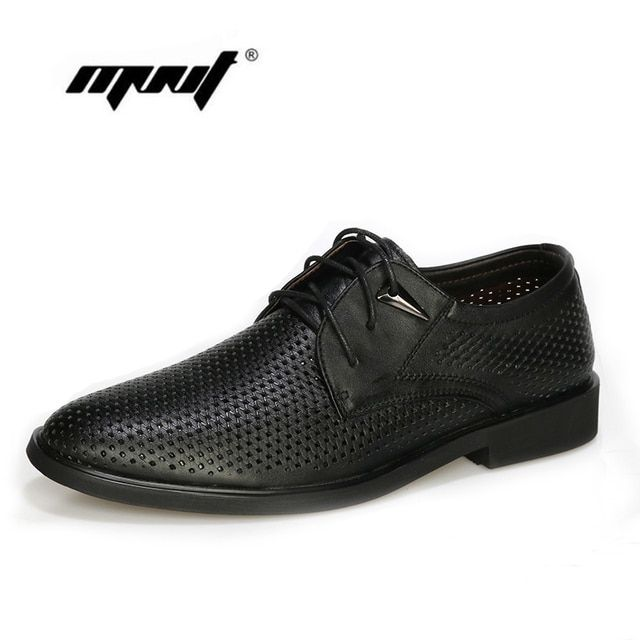 Men genuine leather flats shoes,plus size wedding shoes for man,mesh Oxford business shoes,men dress shoes