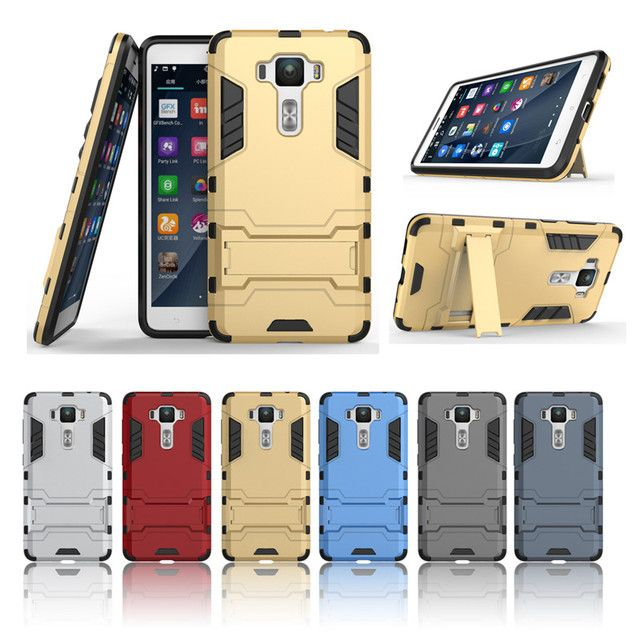 "Luxury PC+TPU Hybrid Armor Hard Kickstand Fundas Case For Coque ASUS Zen Phone ZenFone 3 Deluxe ZS550KL 5.5 "" Cover Phone Cases"